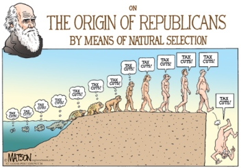 The Origins of the Republicans via Natural Selection