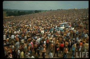 Woodstock was a music festival, billed as An Aquarian Exposition, held at Max Yasgur's 600 acre farm