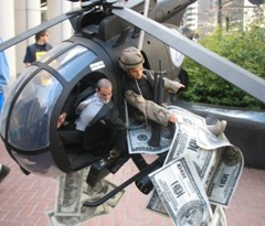 Helicopter Ben Buzzs SF Fed Protest